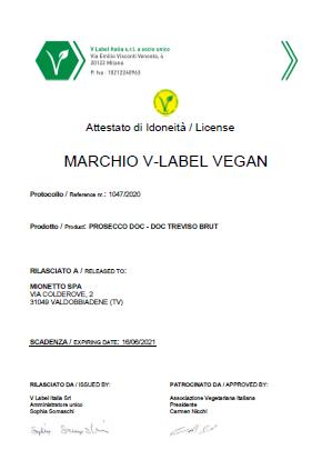 Mionetto Prosecco Brut  D.O.C  Treviso 11%, 0.75l