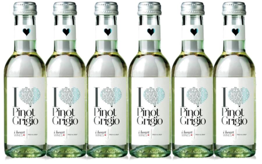 I Heart Pinot Grigio  11,5% 0,187L   iepakojums 24gab.